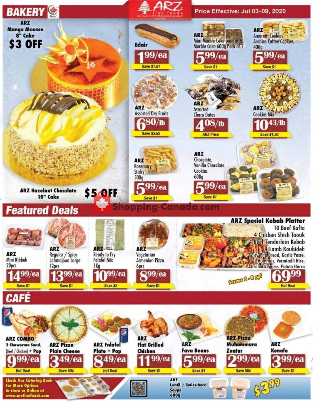 Flyer Arz Fine Foods Canada - from Friday July 3, 2020 to Thursday July 9, 2020