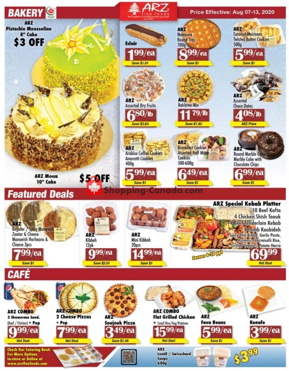 Flyer Arz Fine Foods Canada - from Friday August 7, 2020 to Thursday August 13, 2020