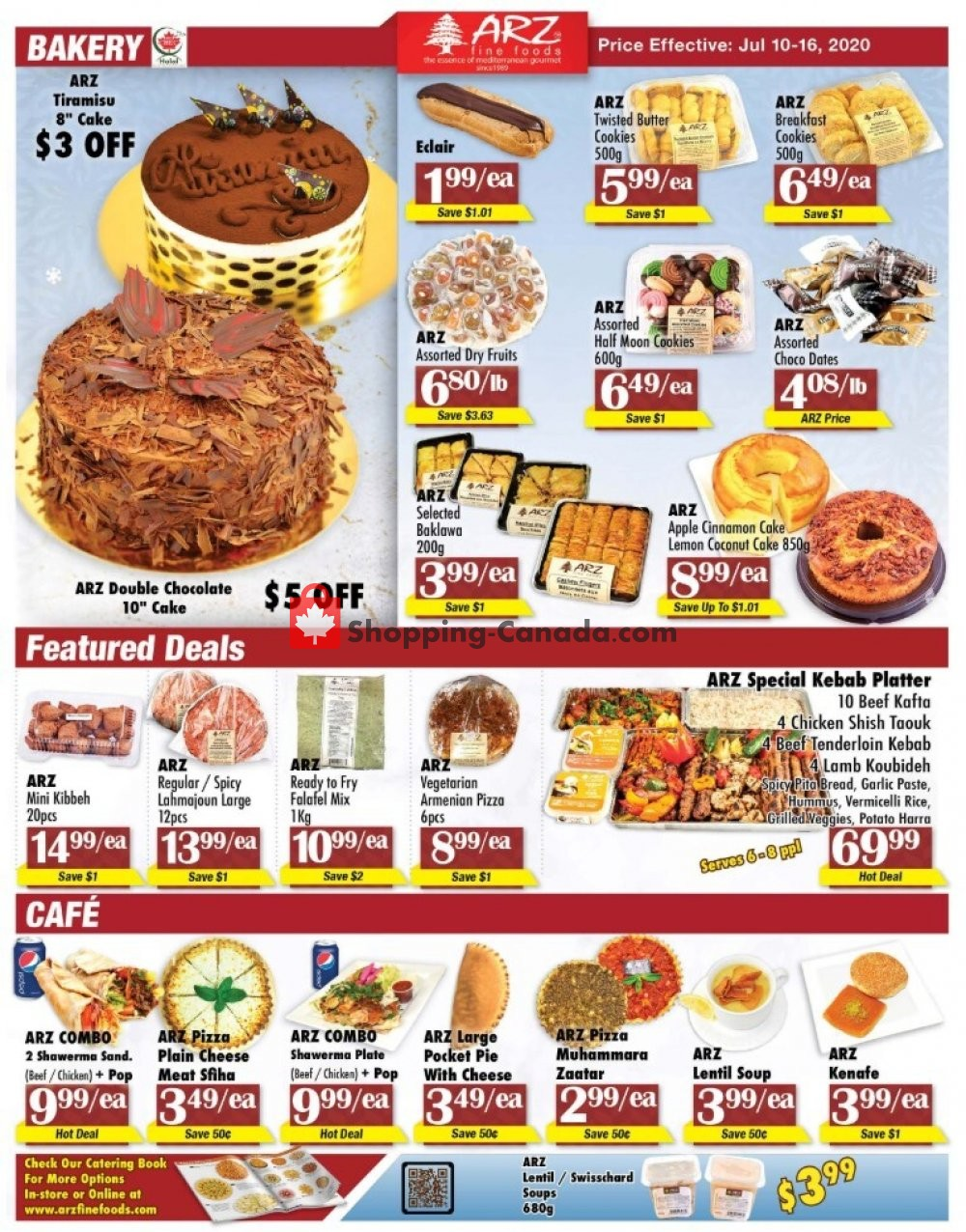 Flyer Arz Fine Foods Canada - from Friday July 10, 2020 to Thursday July 16, 2020