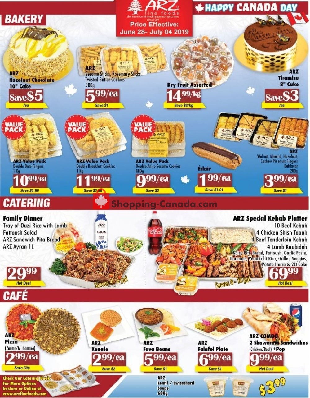 Flyer Arz Fine Foods Canada - from Friday June 28, 2019 to Thursday July 4, 2019