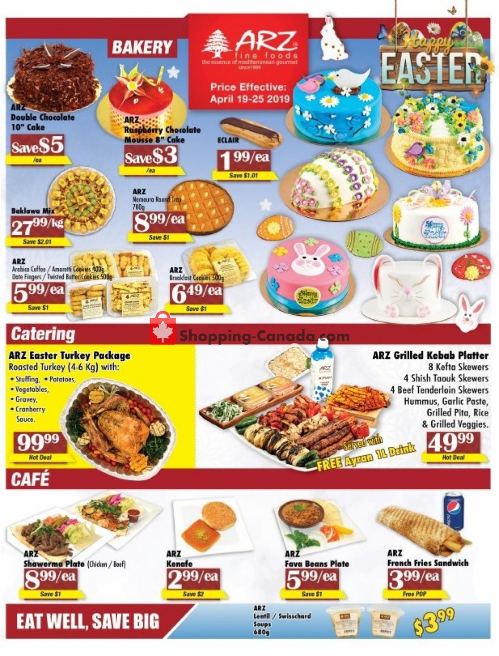 Flyer Arz Fine Foods Canada - from Friday April 19, 2019 to Thursday April 25, 2019