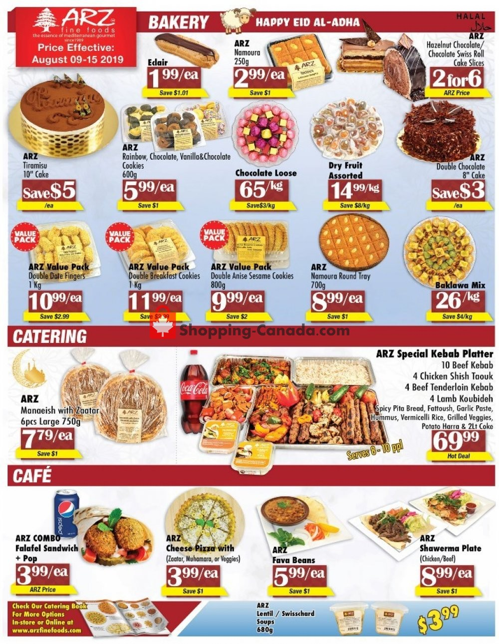 Flyer Arz Fine Foods Canada - from Friday August 9, 2019 to Thursday August 15, 2019