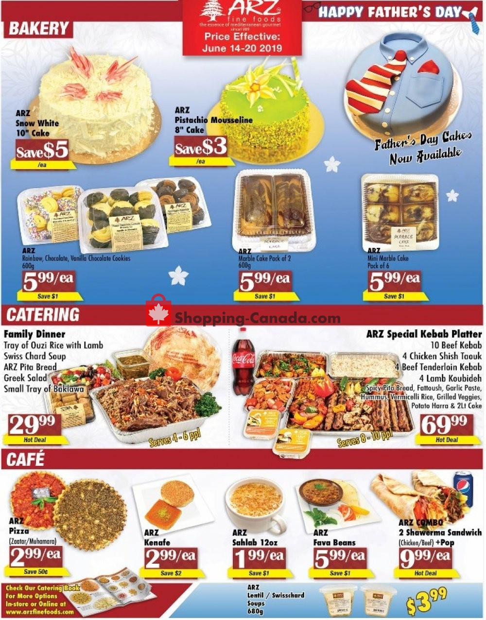 Flyer Arz Fine Foods Canada - from Friday June 14, 2019 to Thursday June 20, 2019