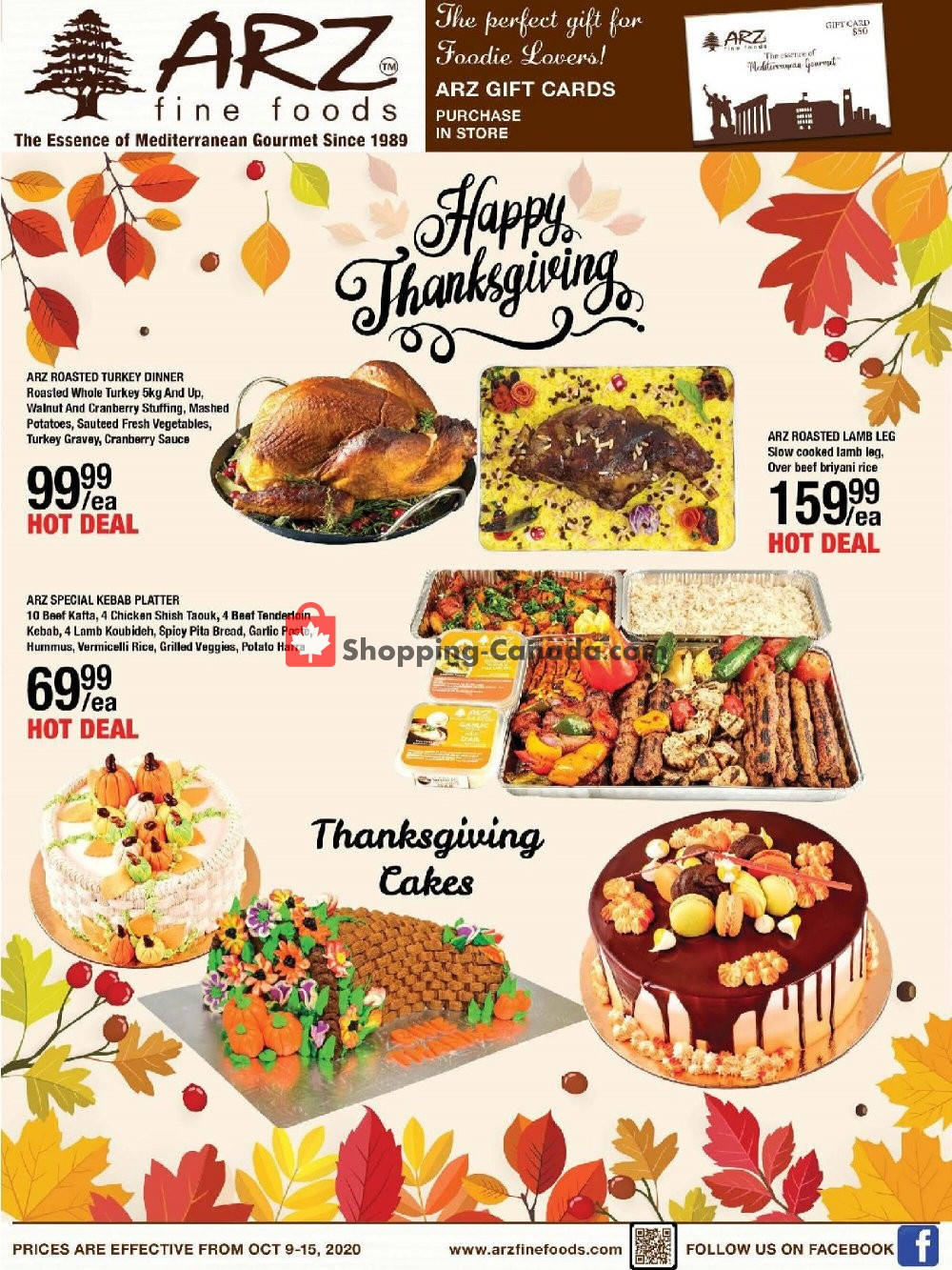 Flyer Arz Fine Foods Canada - from Friday October 9, 2020 to Thursday October 15, 2020
