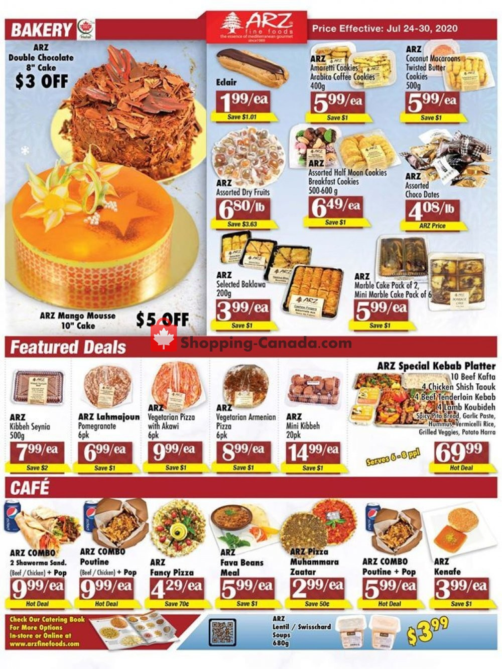 Flyer Arz Fine Foods Canada - from Friday July 24, 2020 to Thursday July 30, 2020
