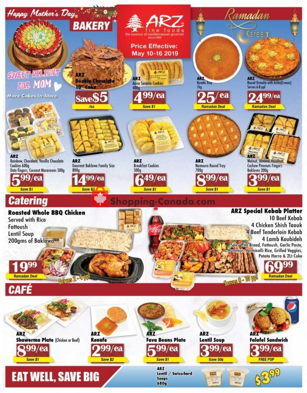 Flyer Arz Fine Foods Canada - from Friday May 10, 2019 to Thursday May 16, 2019