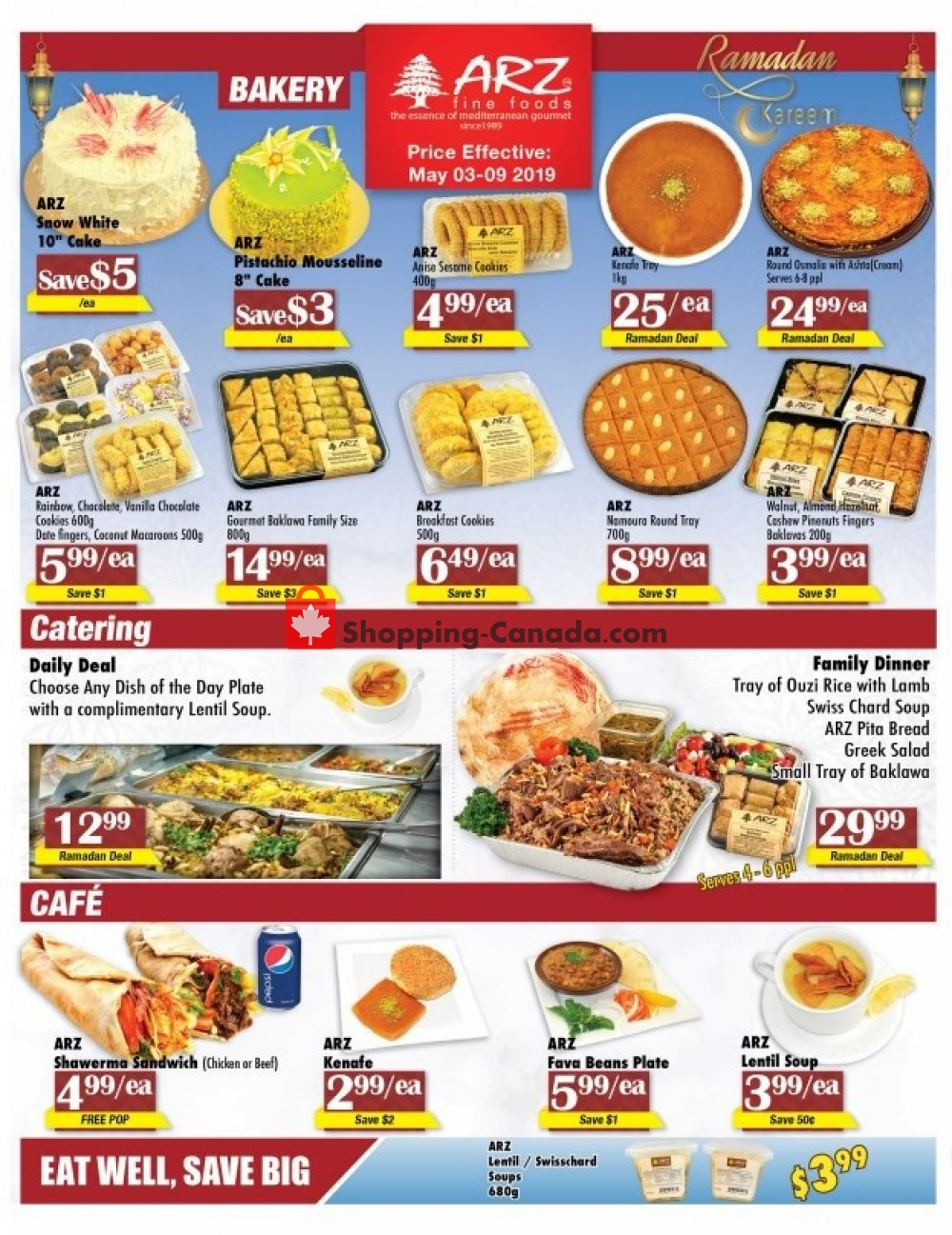 Flyer Arz Fine Foods Canada - from Friday May 3, 2019 to Thursday May 9, 2019