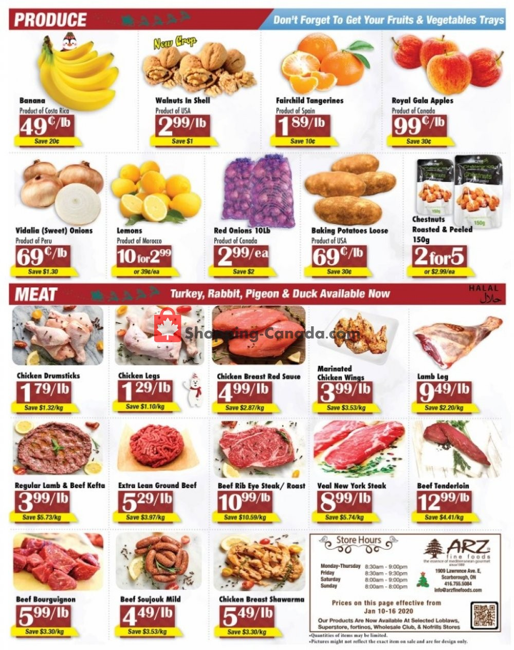 Flyer Arz Fine Foods Canada - from Friday January 10, 2020 to Thursday January 16, 2020
