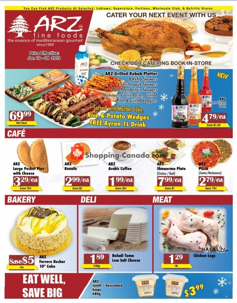 Flyer Arz Fine Foods Canada - from Friday January 18, 2019 to Thursday January 24, 2019