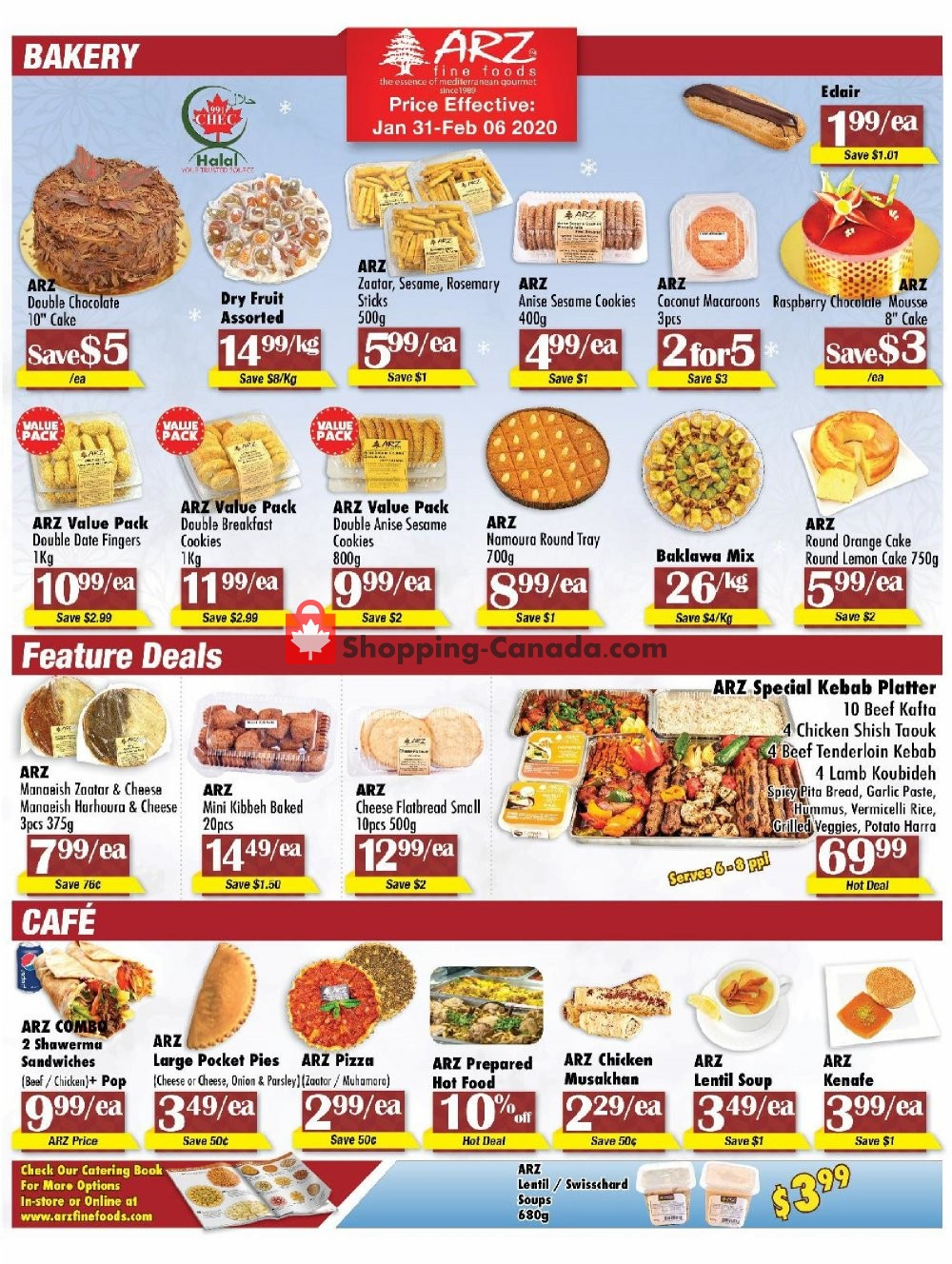 Flyer Arz Fine Foods Canada - from Friday January 31, 2020 to Thursday February 6, 2020