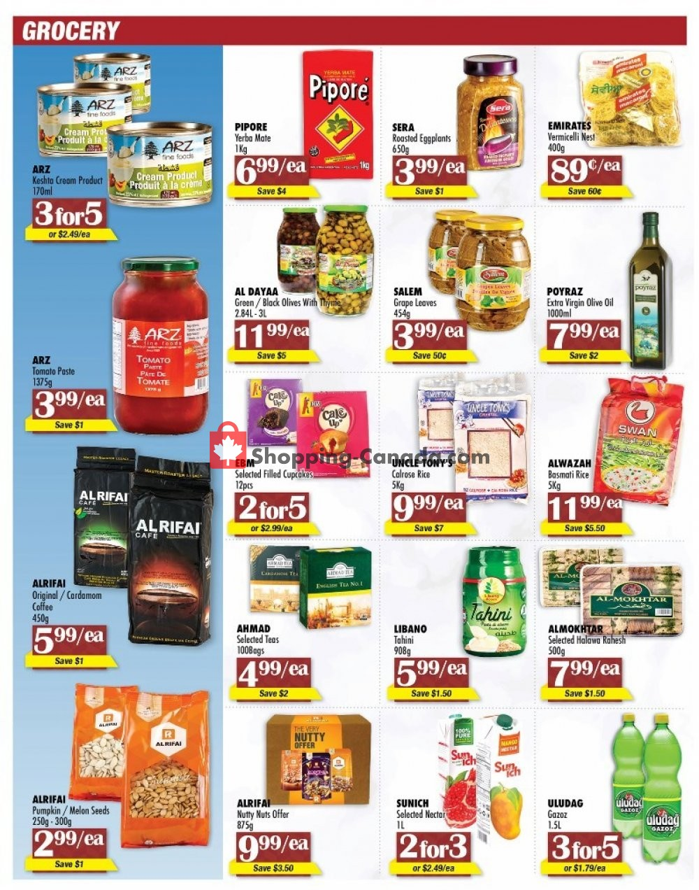 Flyer Arz Fine Foods Canada - from Friday July 12, 2019 to Thursday July 18, 2019