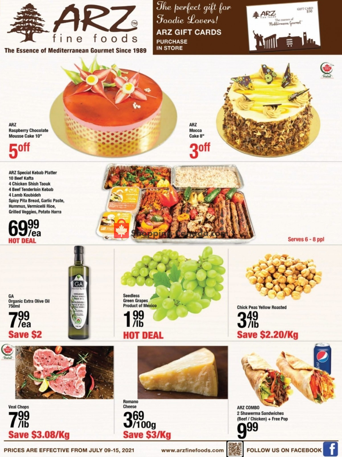 Flyer Arz Fine Foods Canada - from Friday July 9, 2021 to Thursday July 15, 2021