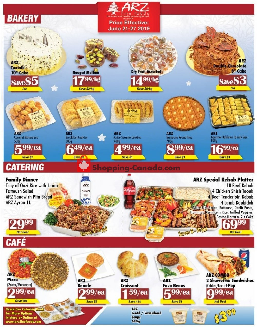 Flyer Arz Fine Foods Canada - from Friday June 21, 2019 to Thursday June 27, 2019