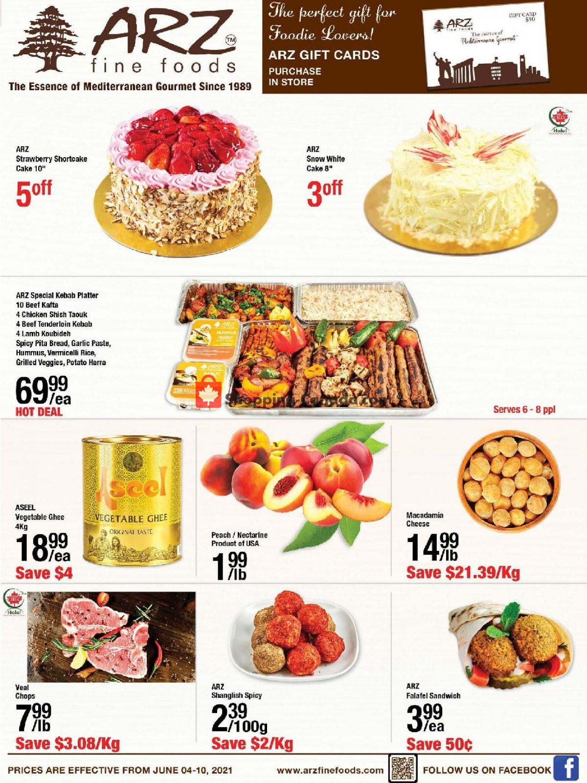 Flyer Arz Fine Foods Canada - from Friday June 4, 2021 to Thursday June 10, 2021