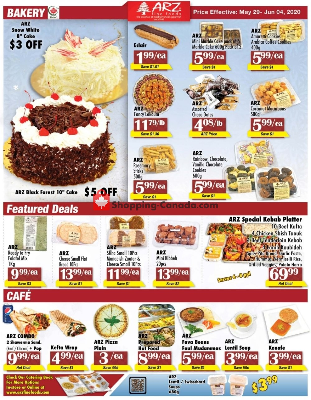 Flyer Arz Fine Foods Canada - from Friday May 29, 2020 to Thursday June 4, 2020