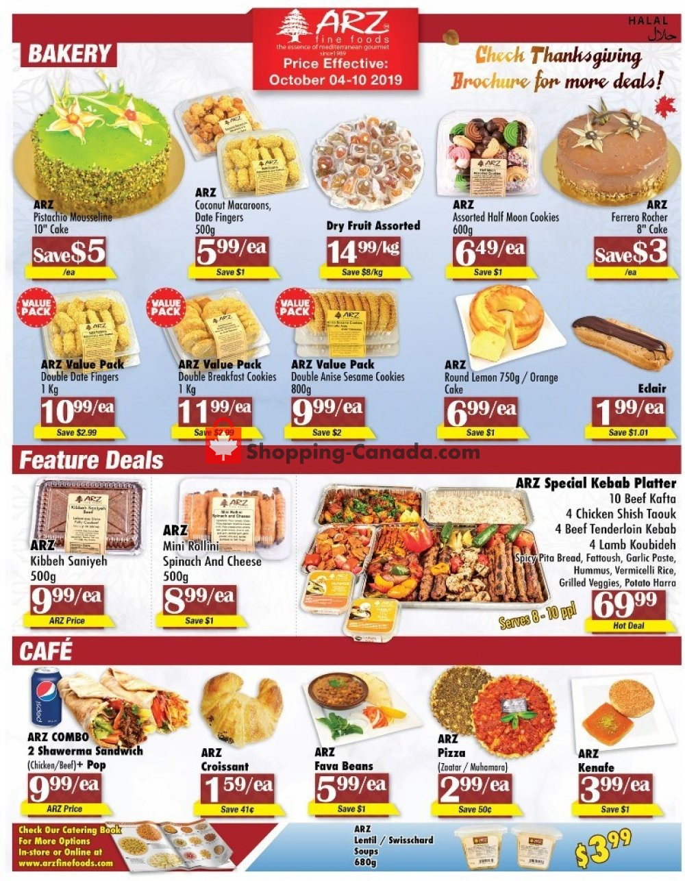 Flyer Arz Fine Foods Canada - from Friday October 4, 2019 to Thursday October 10, 2019