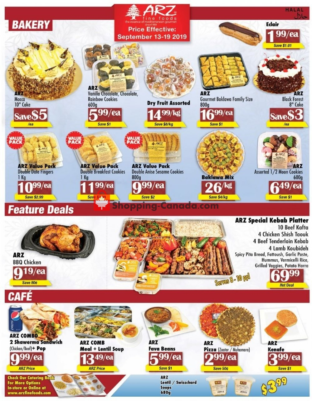 Flyer Arz Fine Foods Canada - from Friday September 13, 2019 to Thursday September 19, 2019