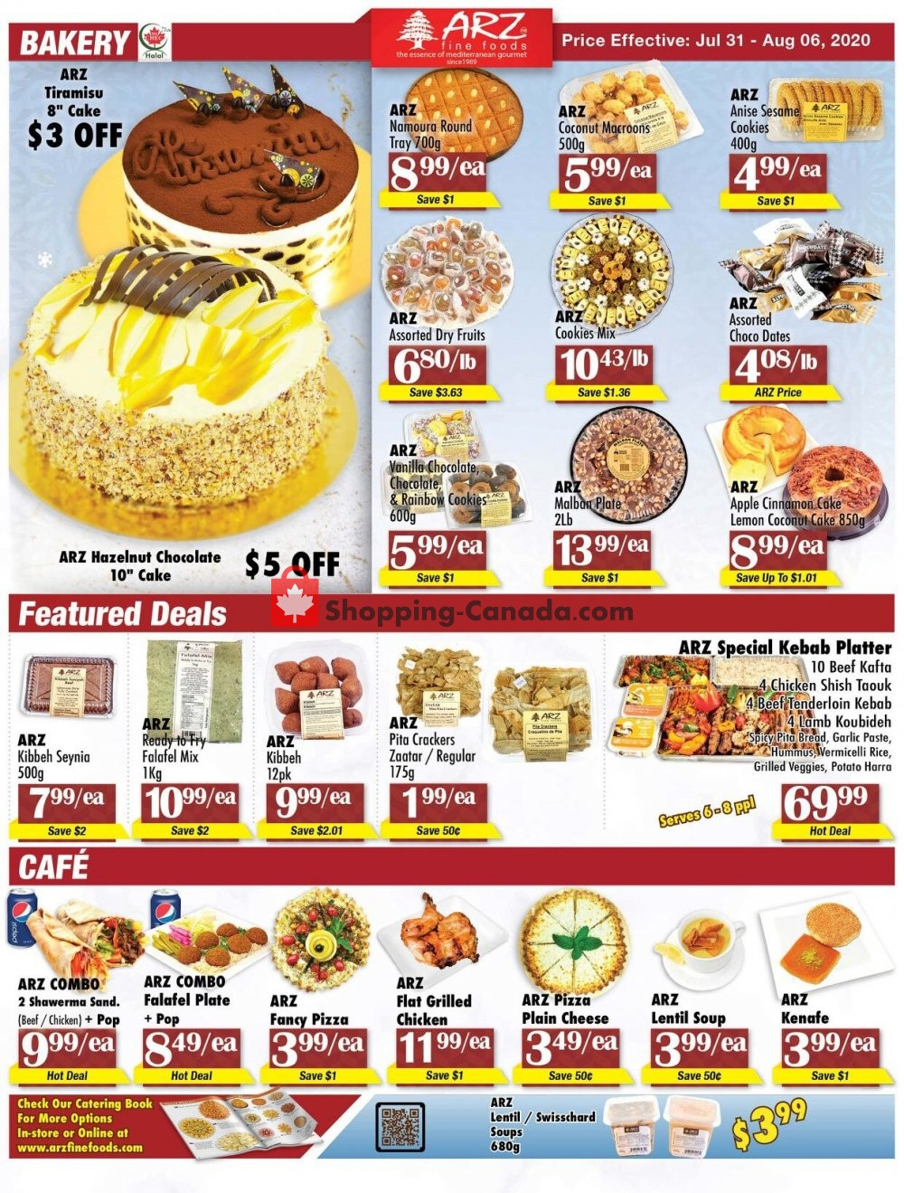 Flyer Arz Fine Foods Canada - from Friday July 31, 2020 to Thursday August 6, 2020