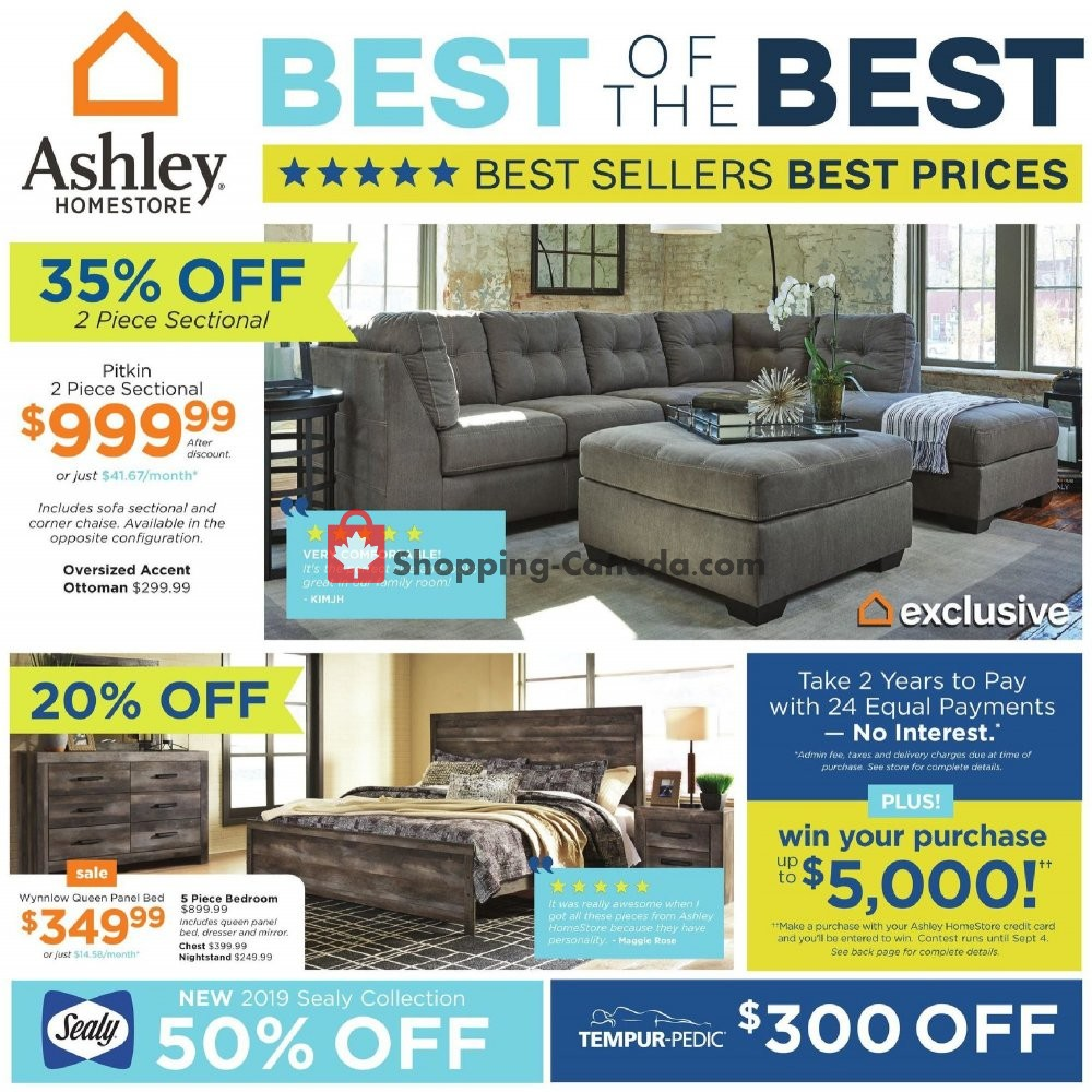 Flyer ASHLEY HOMESTORE Canada - from Thursday August 1, 2019 to Wednesday August 14, 2019