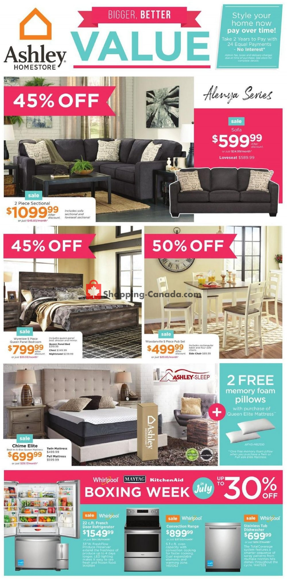 Flyer ASHLEY HOMESTORE Canada - from Thursday July 9, 2020 to Wednesday July 15, 2020