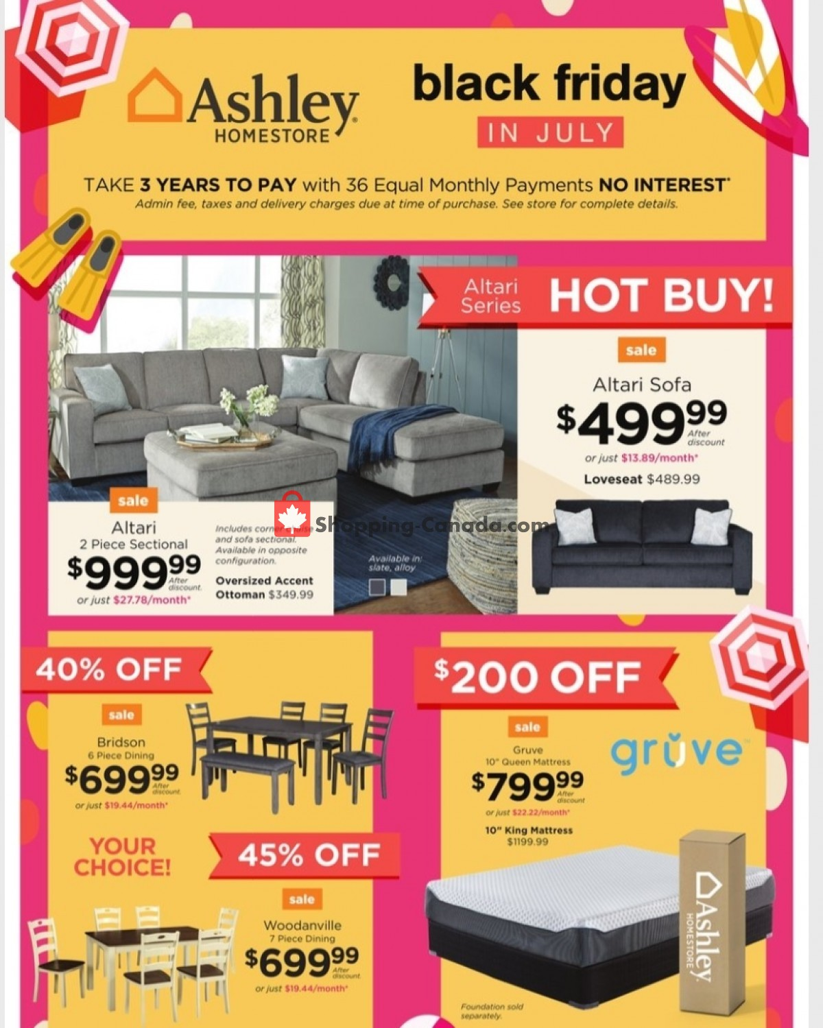 Flyer ASHLEY HOMESTORE Canada - from Tuesday July 13, 2021 to Friday July 30, 2021