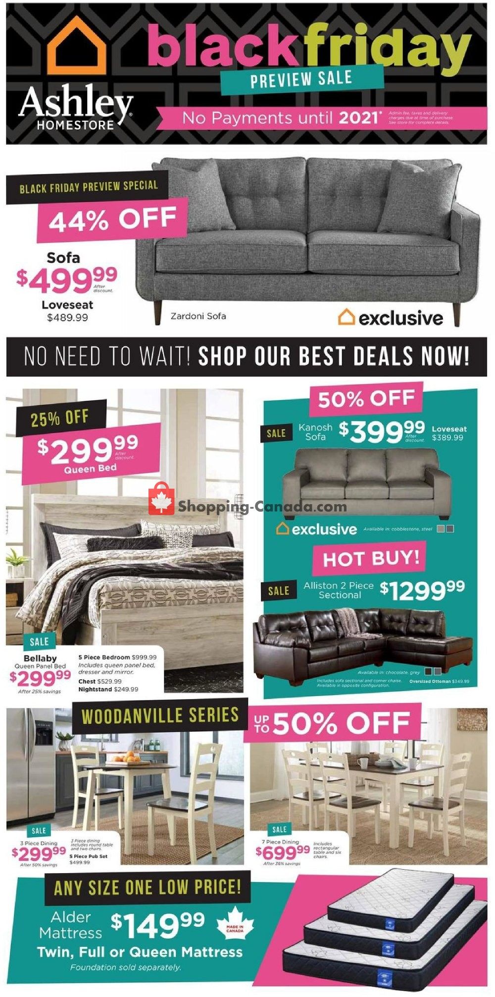 Ashley Homestore Canada Flyer Black Friday Preview Sale On November 14 November 27 2019 Shopping Canada