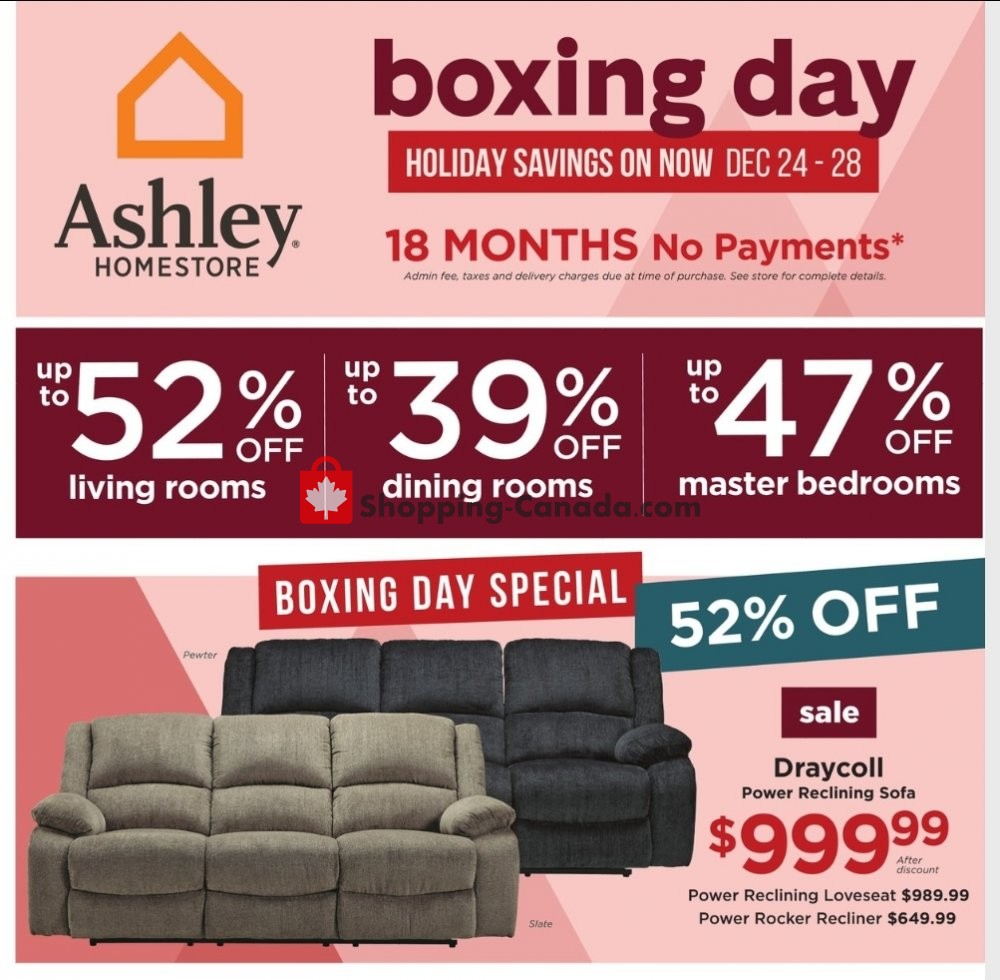 Flyer ASHLEY HOMESTORE Canada - from Wednesday December 23, 2020 to Tuesday January 5, 2021