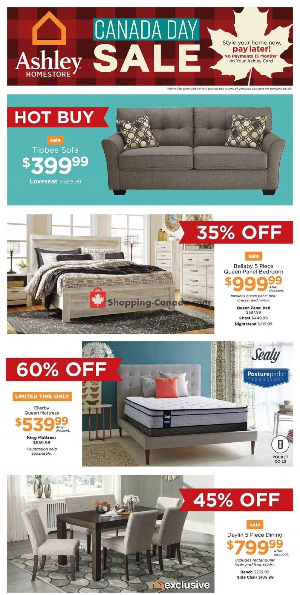 Flyer ASHLEY HOMESTORE Canada - from Thursday July 2, 2020 to Wednesday July 8, 2020