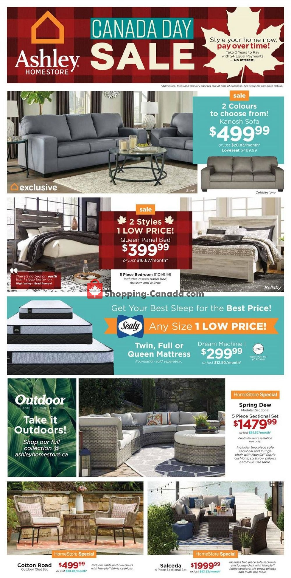 Flyer ASHLEY HOMESTORE Canada - from Thursday June 27, 2019 to Wednesday July 3, 2019