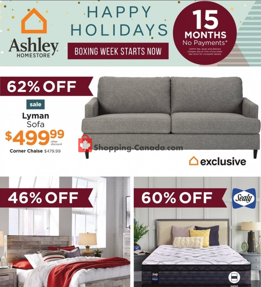 Flyer ASHLEY HOMESTORE Canada - from Tuesday December 15, 2020 to Wednesday December 23, 2020