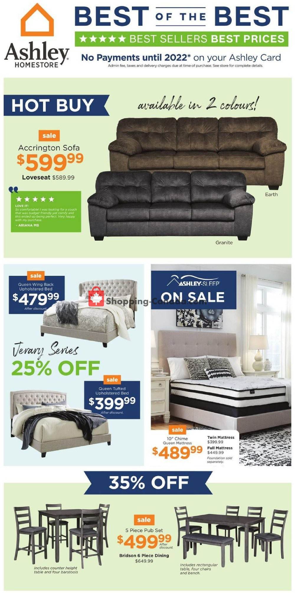 Flyer ASHLEY HOMESTORE Canada - from Tuesday August 4, 2020 to Thursday August 13, 2020