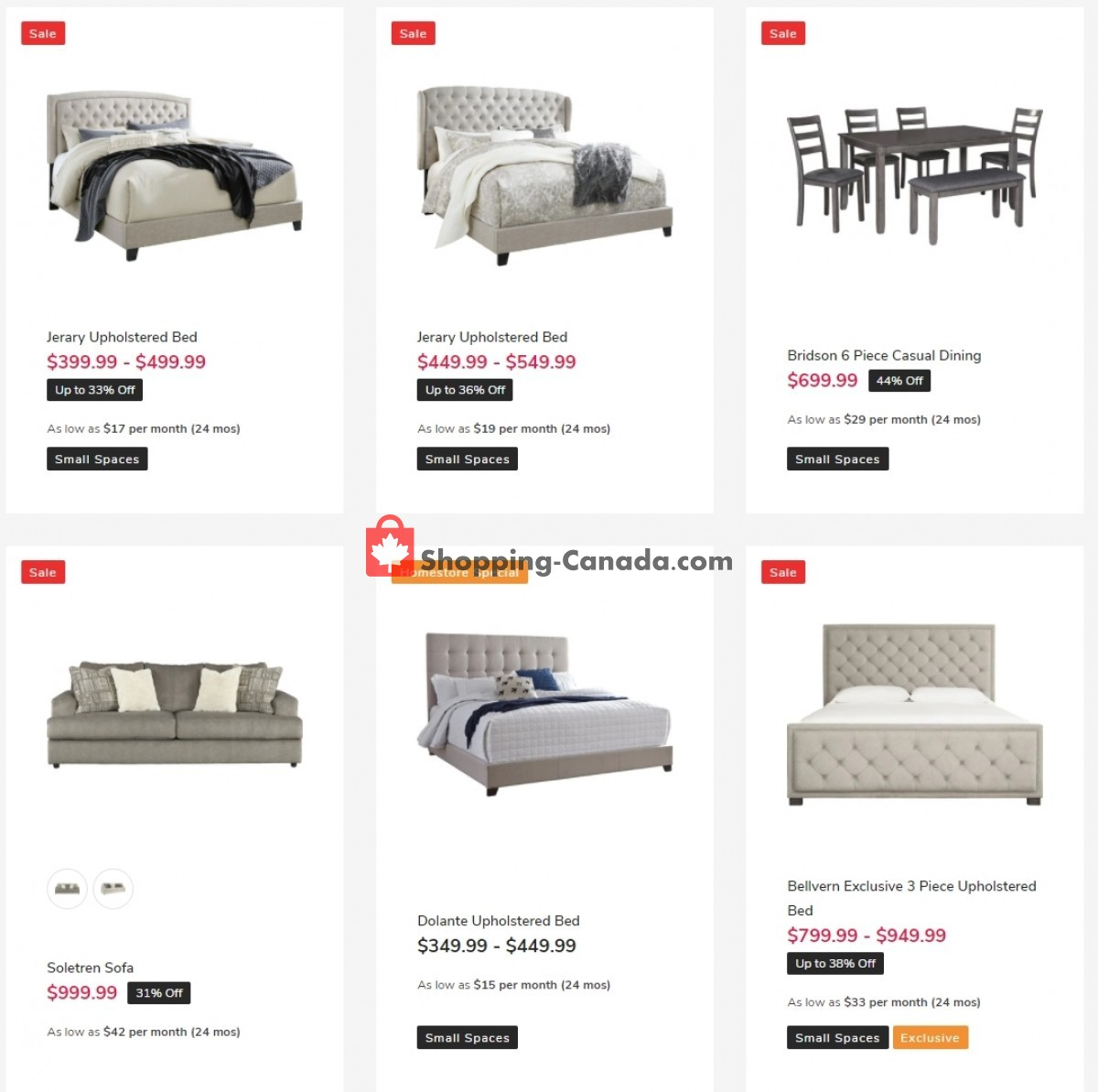 Flyer ASHLEY HOMESTORE Canada - from Friday April 23, 2021 to Thursday April 29, 2021
