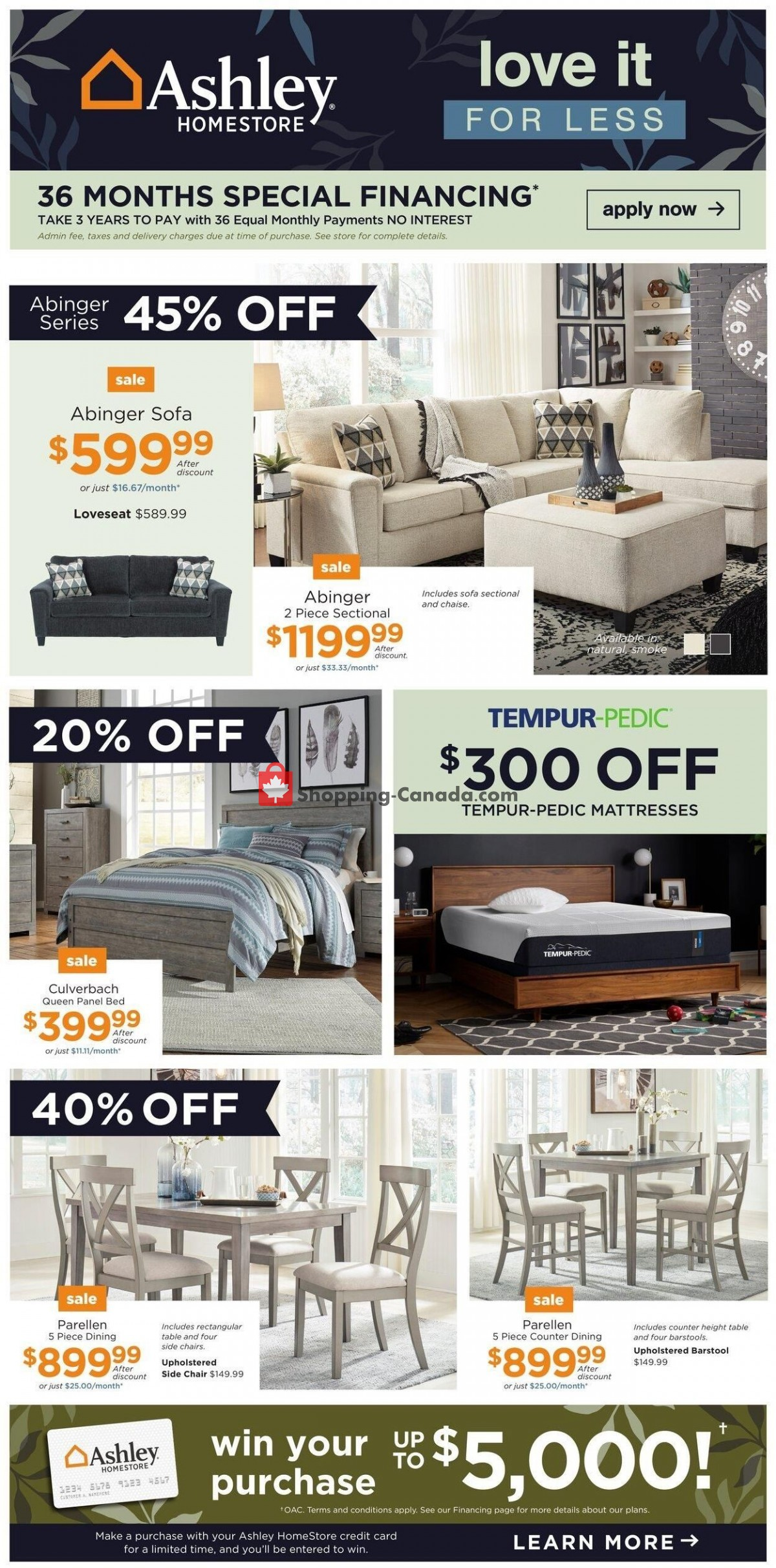 Flyer ASHLEY HOMESTORE Canada - from Tuesday October 12, 2021 to Thursday October 21, 2021
