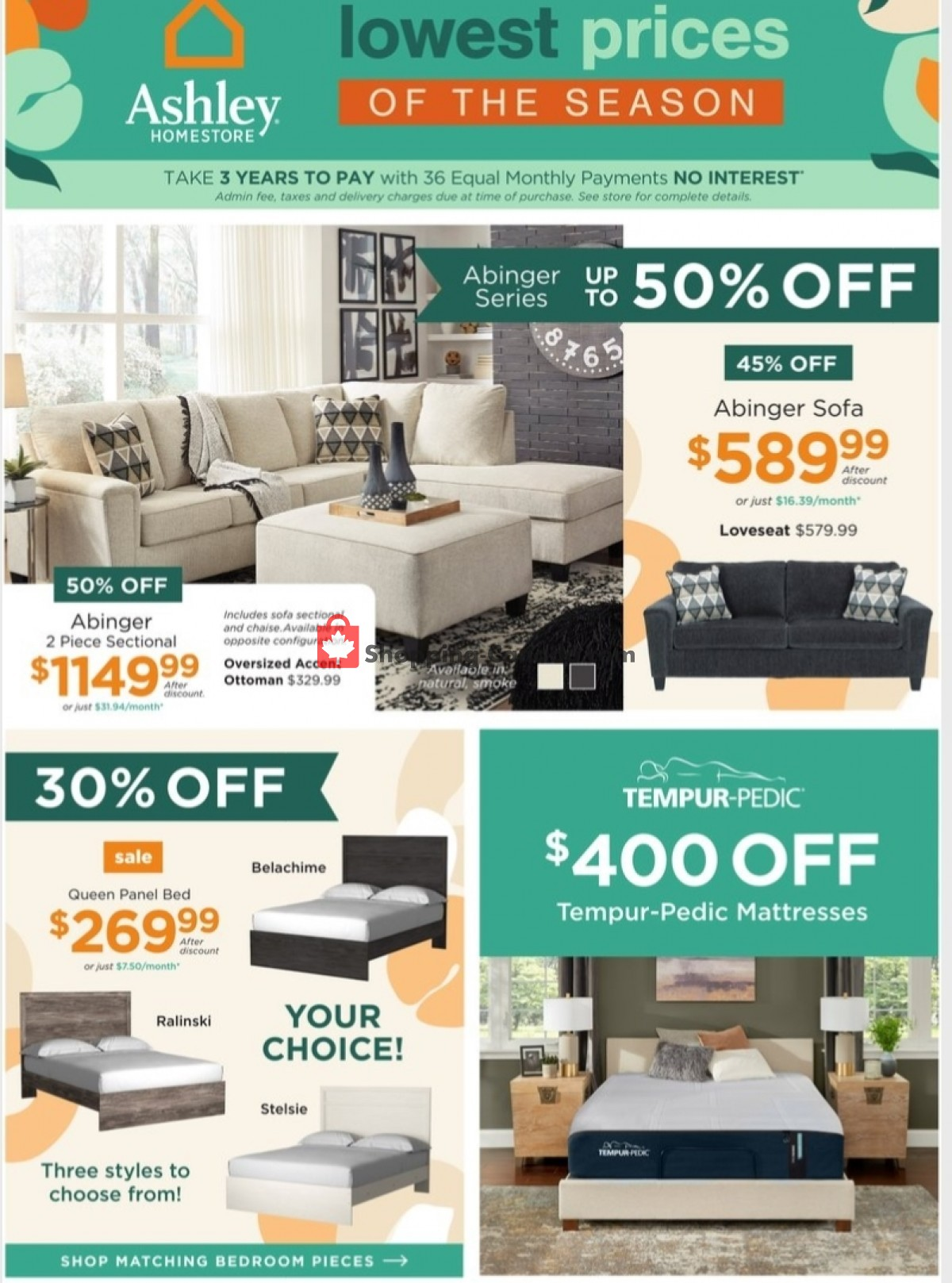 Flyer ASHLEY HOMESTORE Canada - from Tuesday April 27, 2021 to Thursday May 13, 2021