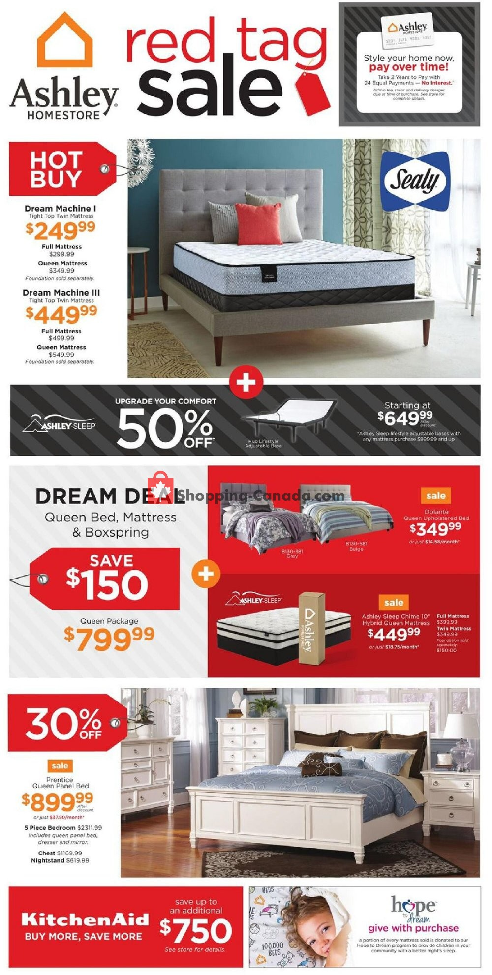 Flyer ASHLEY HOMESTORE Canada - from Thursday October 15, 2020 to Thursday October 22, 2020