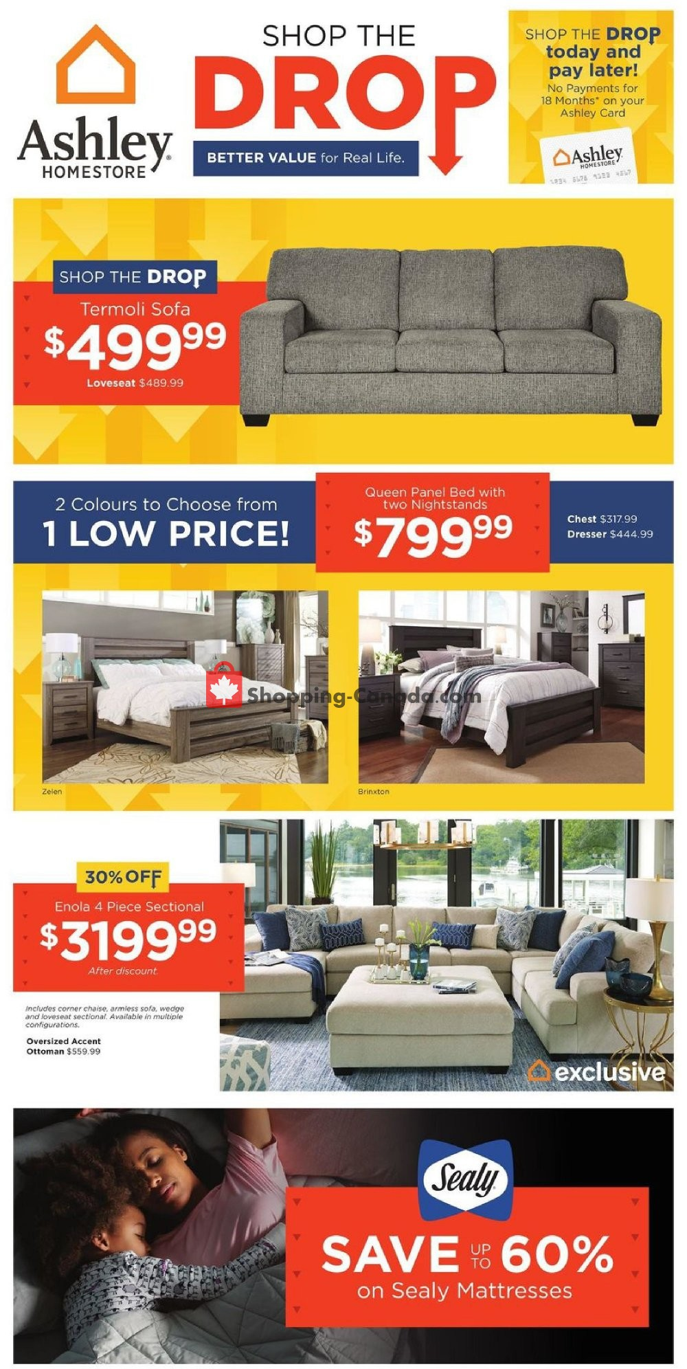 Flyer ASHLEY HOMESTORE Canada - from Thursday June 4, 2020 to Thursday June 11, 2020