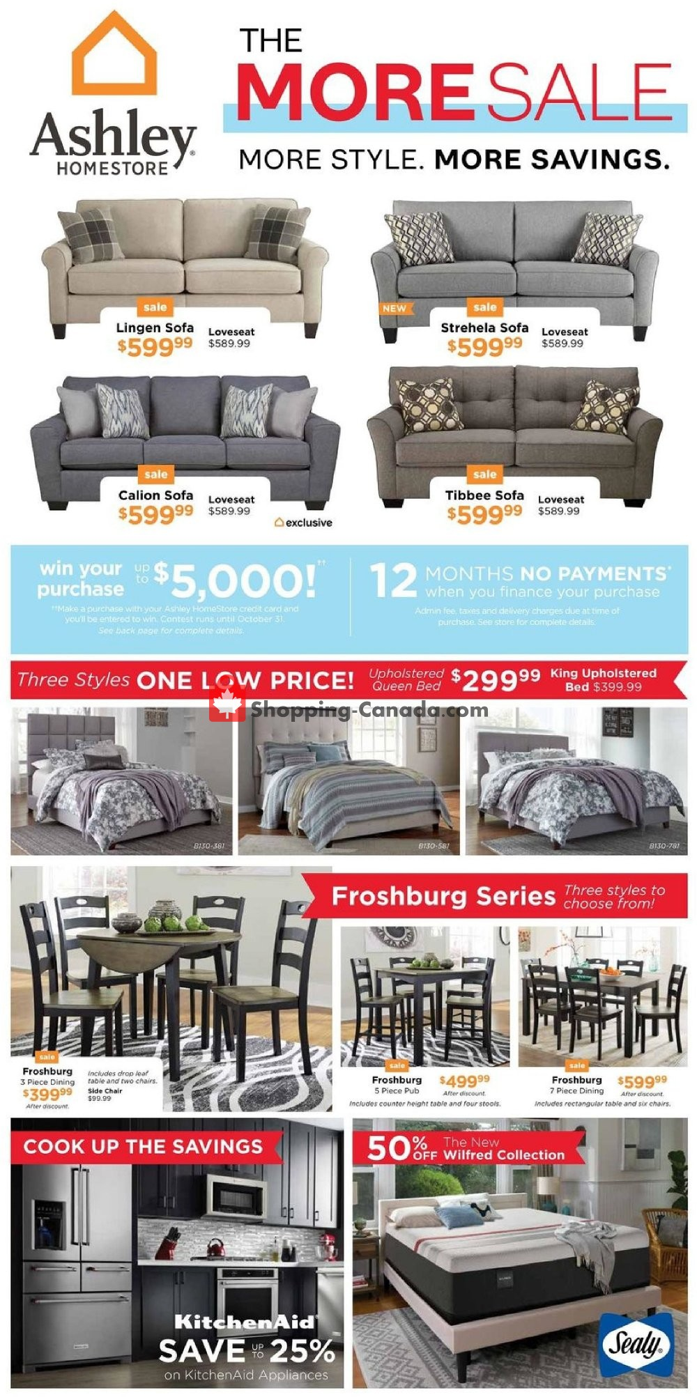 Flyer ASHLEY HOMESTORE Canada - from Thursday October 4, 2018 to Wednesday October 24, 2018