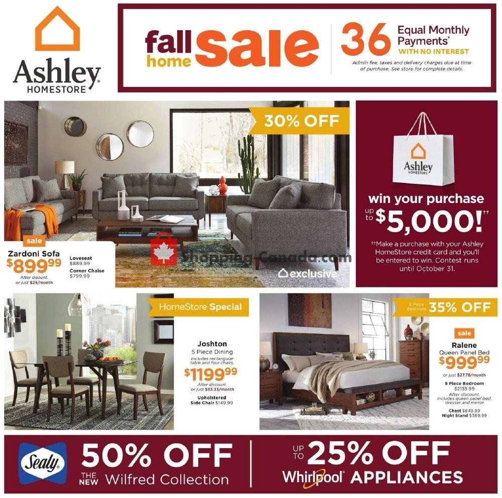 Flyer and weekly ads: ASHLEY HOMESTORE Canada - (SK) - from Thursday on ashley recliners, ashley warehouse, ashley sofa, ashley furniture, ashley amazon, ashley sectional,
