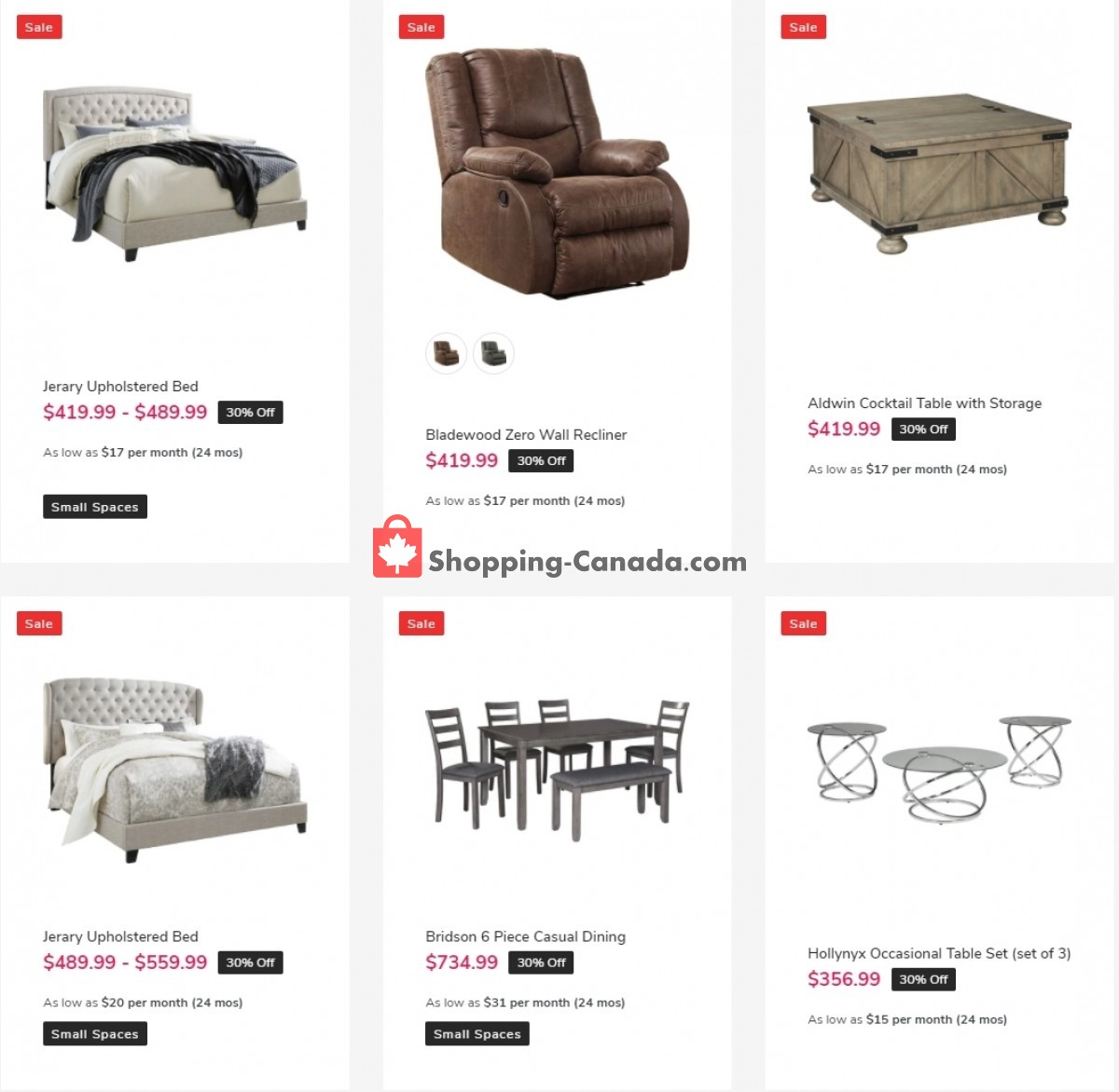 Flyer ASHLEY HOMESTORE Canada - from Friday April 2, 2021 to Monday April 5, 2021