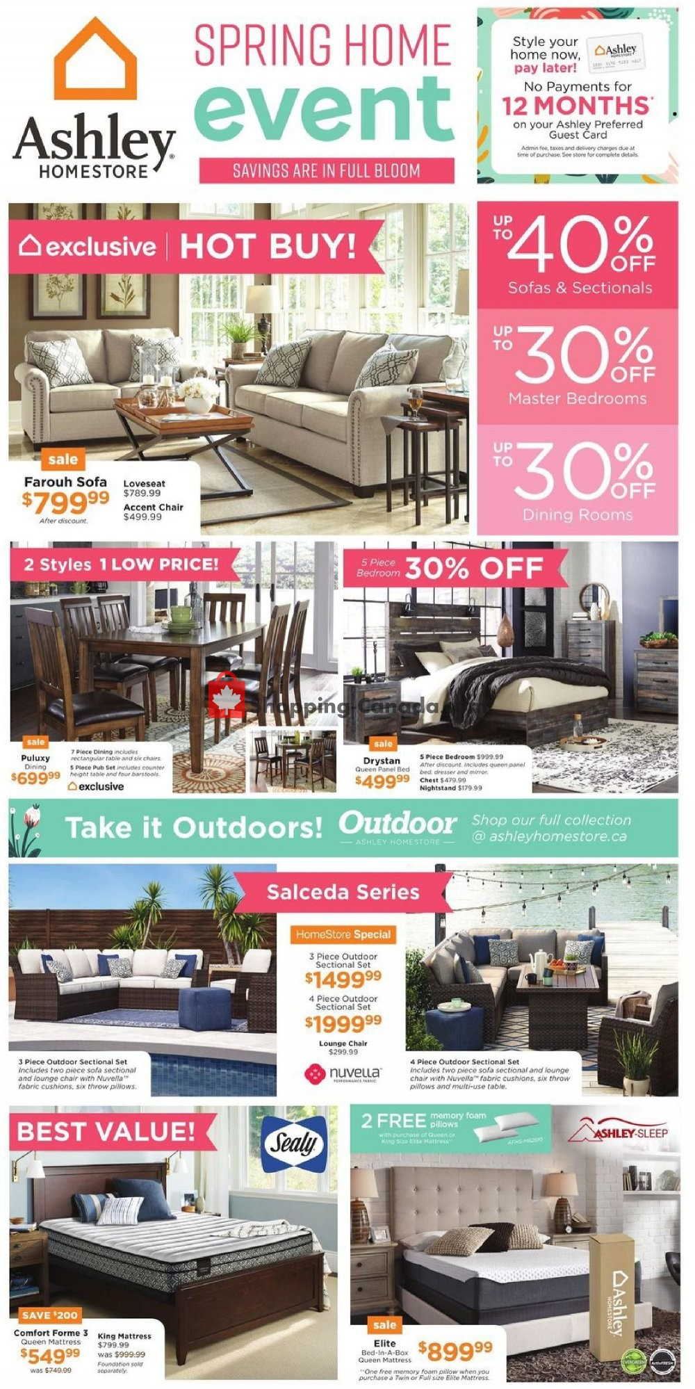 Flyer ASHLEY HOMESTORE Canada - from Thursday April 25, 2019 to Wednesday May 1, 2019