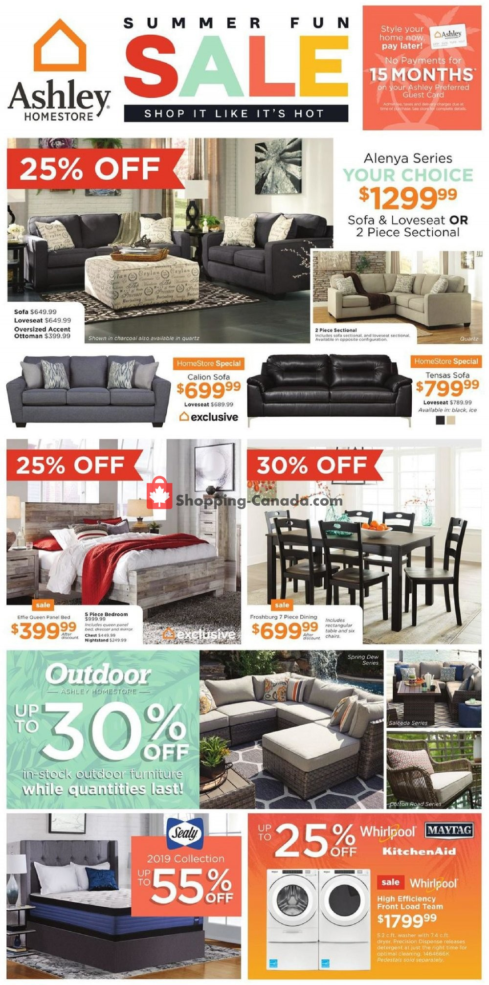 Flyer ASHLEY HOMESTORE Canada - from Thursday July 18, 2019 to Wednesday July 31, 2019