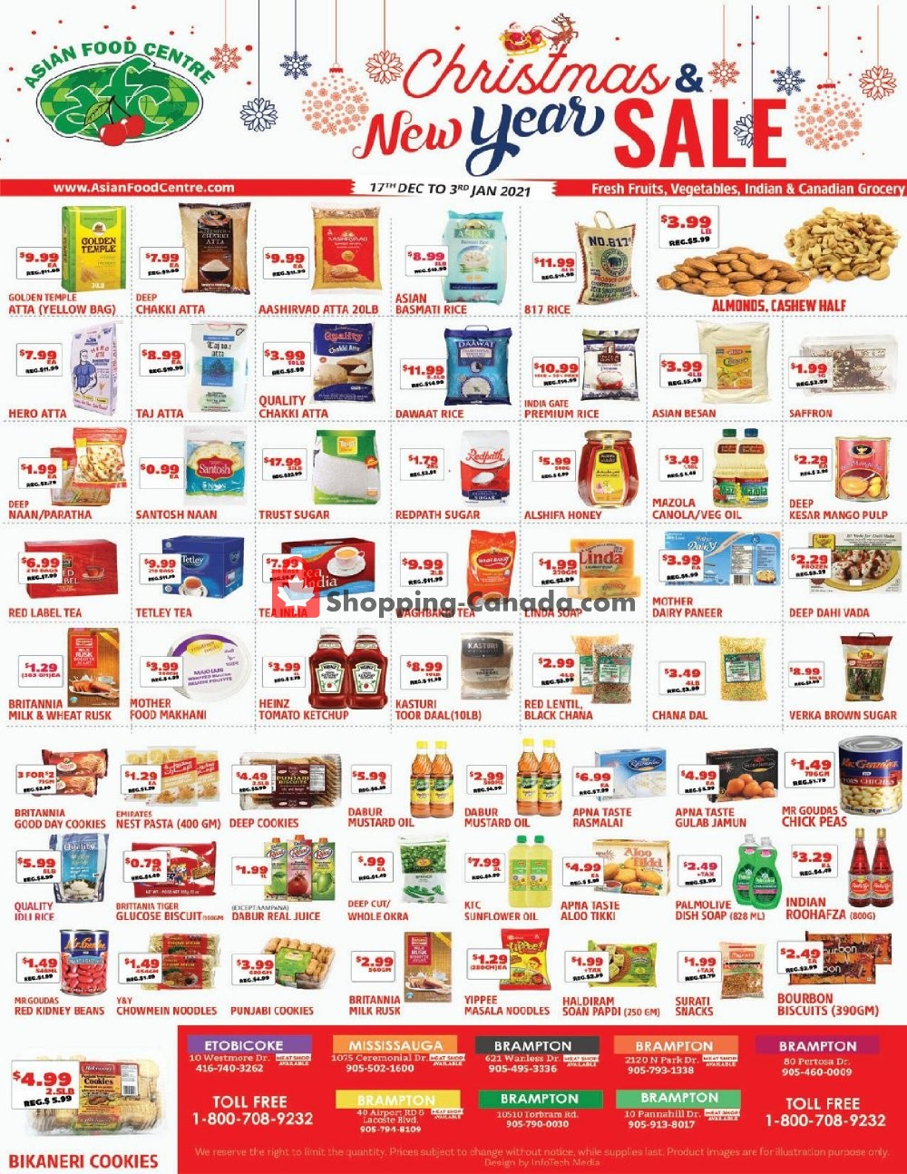 Flyer Asian Food Centre Canada - from Thursday December 17, 2020 to Sunday January 3, 2021