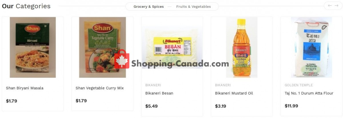 Flyer Asian Food Centre Canada - from Monday July 19, 2021 to Sunday July 25, 2021
