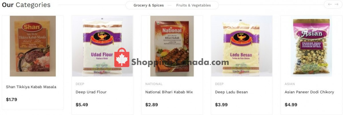 Flyer Asian Food Centre Canada - from Monday September 13, 2021 to Sunday September 19, 2021