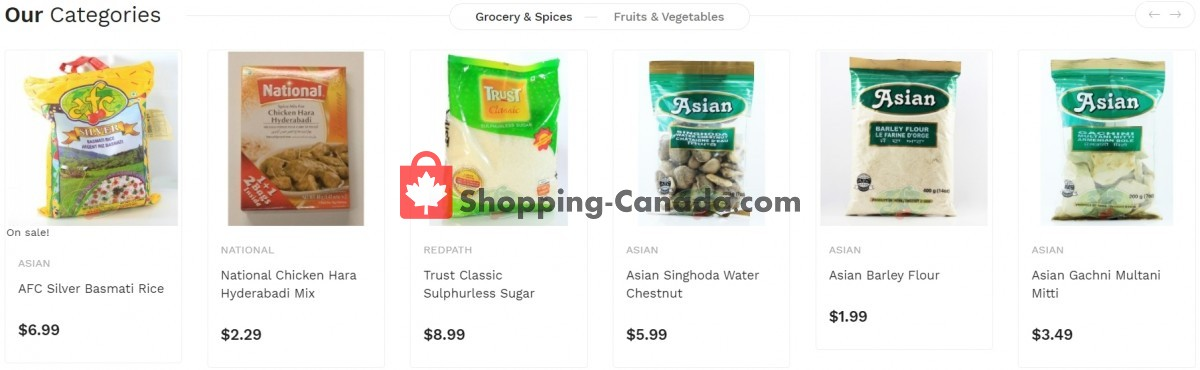 Flyer Asian Food Centre Canada - from Monday April 26, 2021 to Sunday May 2, 2021