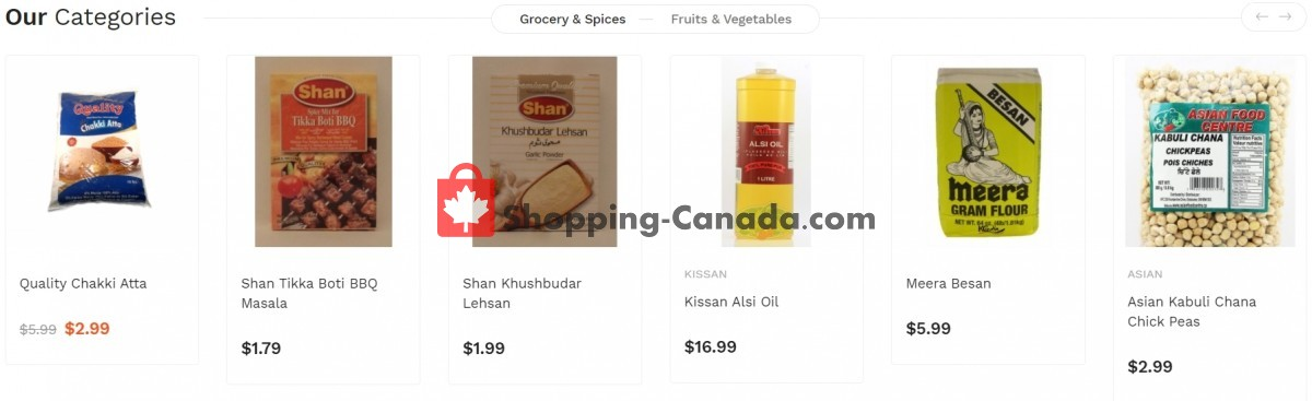Flyer Asian Food Centre Canada - from Monday March 29, 2021 to Sunday April 4, 2021