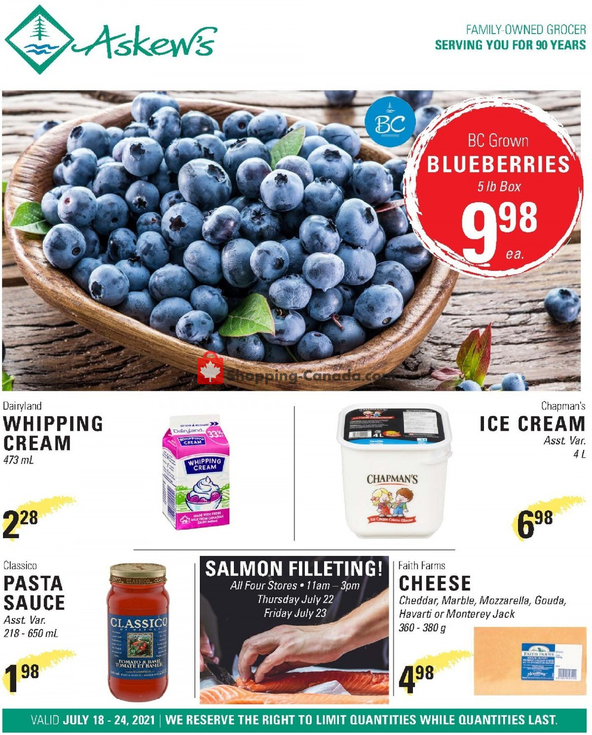 Flyer Askews Foods Canada - from Sunday July 18, 2021 to Saturday July 24, 2021