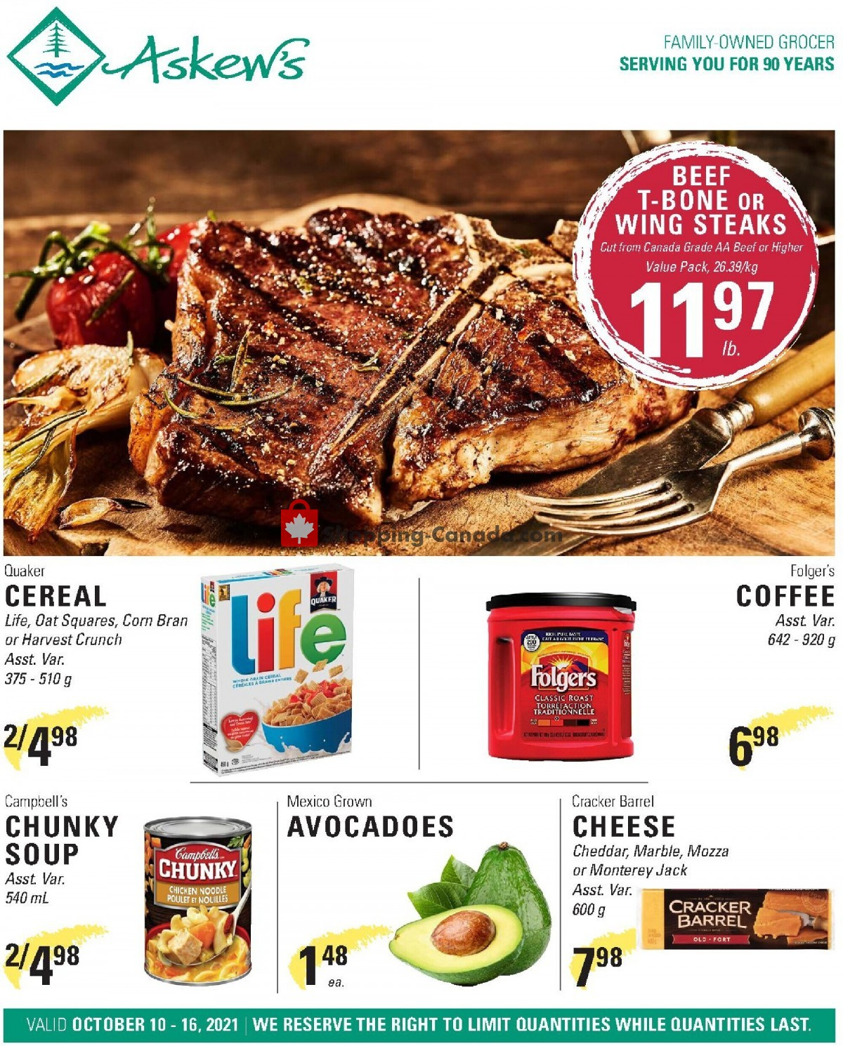 Flyer Askews Foods Canada - from Sunday October 10, 2021 to Saturday October 16, 2021