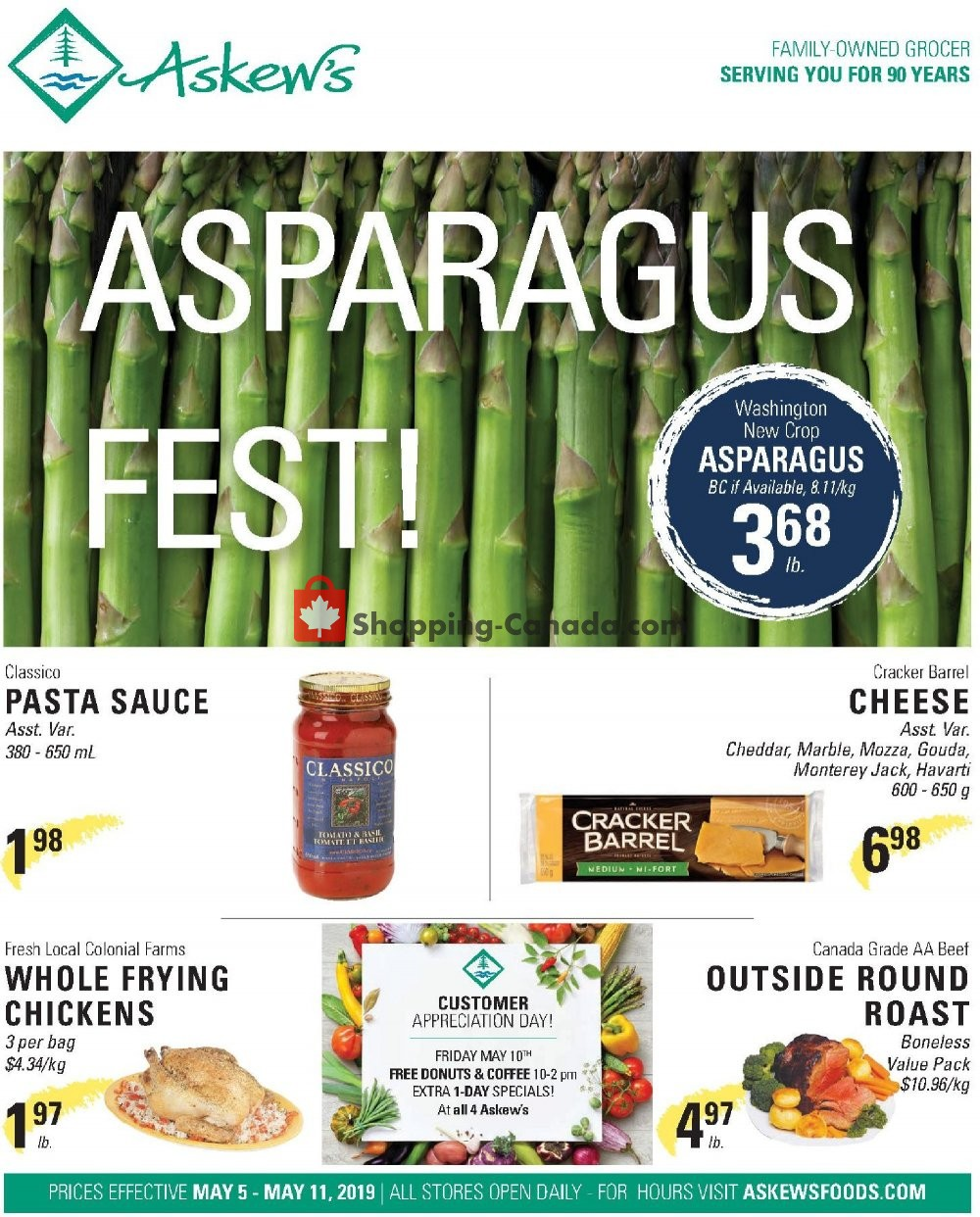 Flyer Askews Foods Canada - from Sunday May 5, 2019 to Saturday May 11, 2019