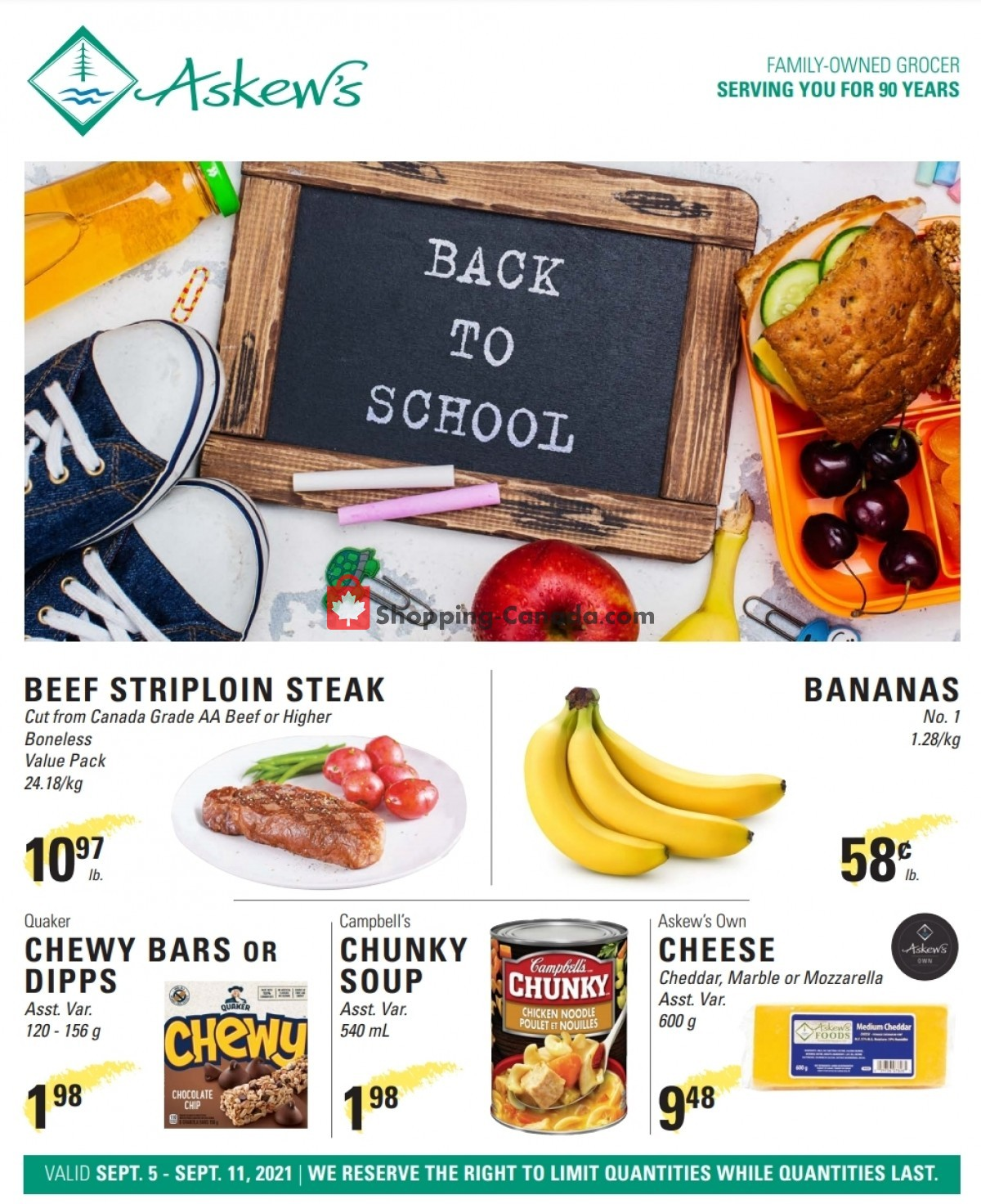 Flyer Askews Foods Canada - from Sunday September 5, 2021 to Saturday September 11, 2021